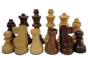 Sheesham Staunton Chess Set - 4 Inch King