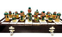 Babushka Chess Set - Board Size 16 1/2