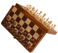 Intarsie Inlaid Wood Magnetic Chess Set  - 10 1/2