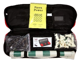 Chess Bag Combo - Bag/Board/Pieces w/ DGT 960 Clock