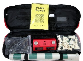 Chess Bag Combo Bag/Board/Pieces w/ Z Mart Chess Clock