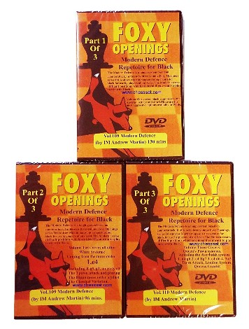 Foxy Openings Chess DVD 108, 109 & 110 Modern Defense for Black