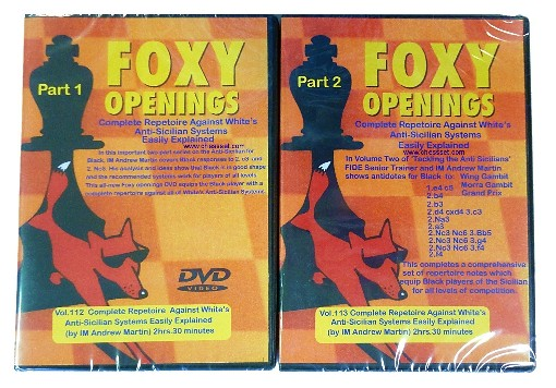 Foxy Chess DVD 112 & 113 - Part 1 & 2 Anti Sicilian for Black