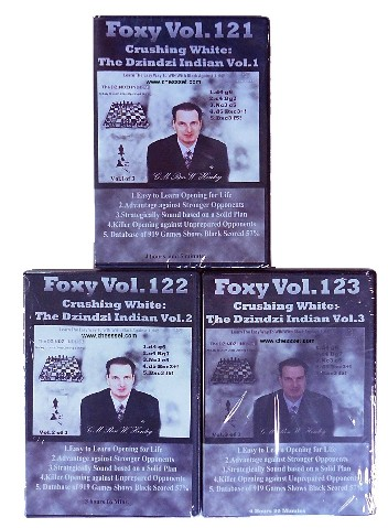 Foxy Chess DVD 121,122,123 play the Dzindzi Indian Immediately