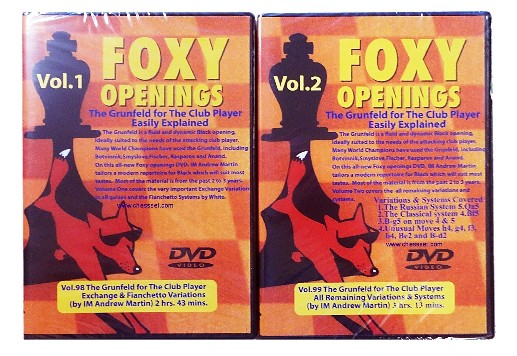 Foxy Chess DVD 98 & 99 - Grunfeld for the club player Part 1 & 2