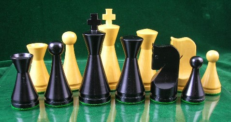 Modern Ebonized Wood Chess Set - 4