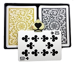 COPAG 1546 -Black & Gold - Index Choice - Poker