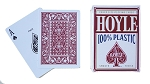 Hoyle RED 100% Plastic Poker Reg Index Deck