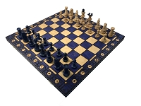 Consul Blue Chess Set   -  19