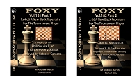 Foxy Chess Vol 181 & 182 Black Repertoire For Tournament Player