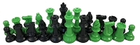 Neon Green and Black Chess Set