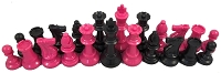 Pink and Black Chess Set