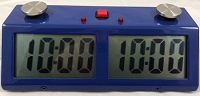 Zmart Pro Digital Chess Clock - Metal Case - Blue
