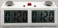 Zmart Pro Digital Chess Clock - Metal Case - White
