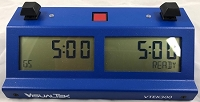 Visual Tek V-TEK-300 Digital Chess Clock - Blue