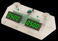 Z Mart Fun Chess Clock - Green LED Display / Clear Case