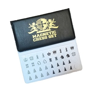 Checkbook Size Folding Magnetic Chess Set 5.75""