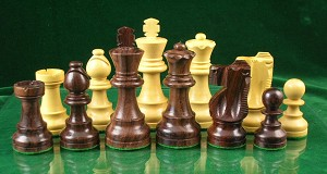 "Staunton Chess Pieces - Rosewood  - 3 3/4"" King - Double Weighted"