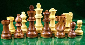 "Staunton Chess Pieces - Sheesham Wood -  3 3/4"" King - Double Weighted"