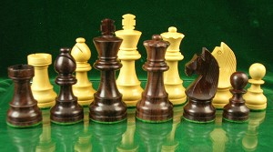 "European Chess Pieces - Rosewood - 3 3/4"" King - Double Weighted"