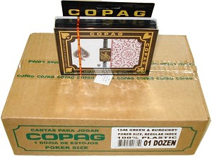 COPAG 1546 - Green & Burg. - 12 Dual Decks - Index Choice  - Poker