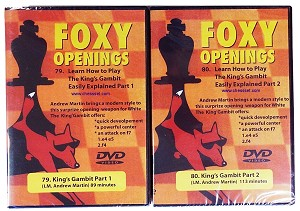 Foxy DVDs - 79 & 80 - King's Gambit Accepted, King's Gambit Declined