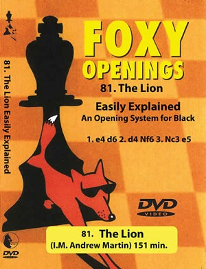 Foxy Openings 81: The Lion - Chess DVD
