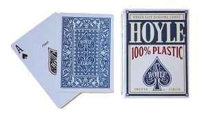 Hoyle Blue 100% Plastic Poker Reg Index Playing Cards