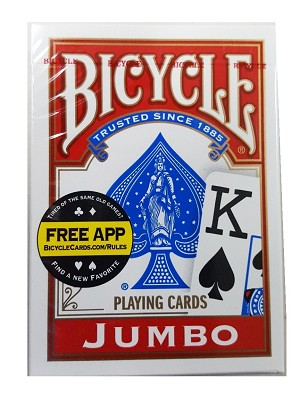 Bicycle Poker Jumbo Index Playing Cards - Red