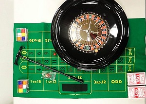 "Deluxe 16"" Roulette Set including Black Jack"