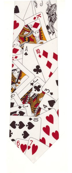 Silk Face Up Cards Tie