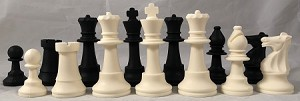 "Silicone Club Chess Set - Full Size 3 3/4"" King - Bends like Rubber"