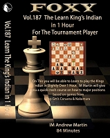 Foxy Chess DVD 187 Learn The King's Indian in 1 hour