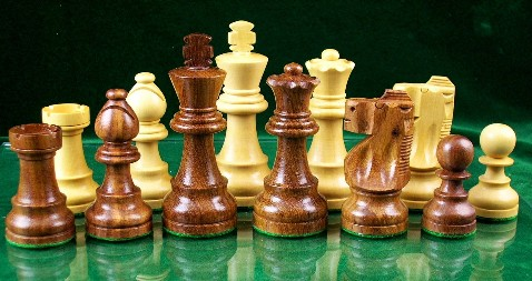 Staunton Chess Pieces - Sheesham Wood -  3 3/4