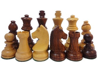 European Knight Sheesham Wood Chess Set - 3 1/4