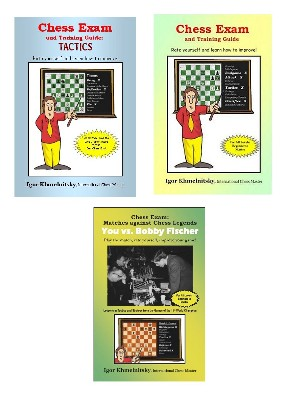 3 Book Set - Chess Exam, Chess Tactics, Bobby Fischer