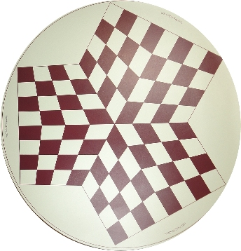 3 Way Brown Vinyl Chess Board