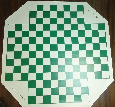 4 Way Vinyl Green Chess Board