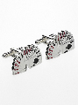 Cards Cufflink - Chrome