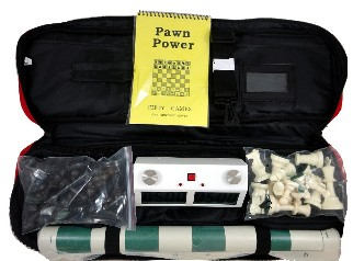 Tournament Pro Combo - Bag/Board/Pieces/Z Mart Pro Digital Chess Clock