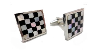 Chess Board Cuff Links 5X5