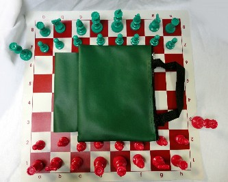 BAG W/ LOOP COMBO - COLORED PIECES: Bag / Board / Chess Set