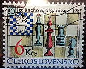 Czechoslovakia Chess Stamp