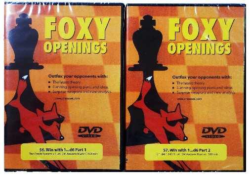 Foxy DVD 56 & 57 Chess: Complete Win with d6 Part 1 & 2