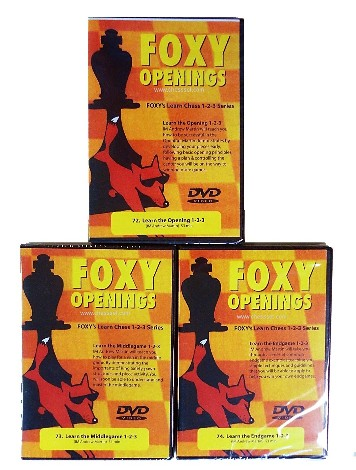 Foxy Chess DVDs Opening, Middle & End Game Set 72, 73 & 74