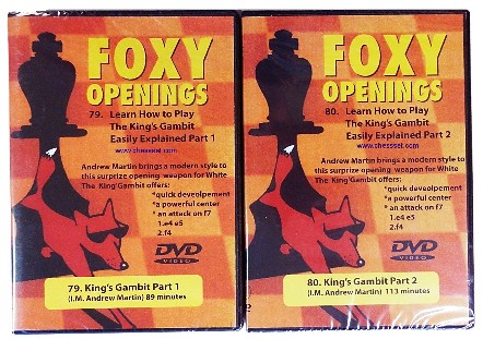 Foxy DVDs 79/80 - King's Gambit Accepted, King's Gambit Declined