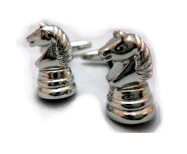 Chess Knight Cuff Links