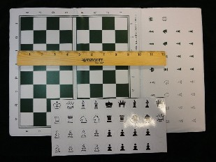 Large Folding Magnetic Chess Set - Tri Fold - 9 in. Board Size