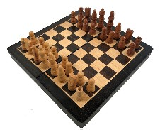 Wooden Folding Magnetic Chess Set 8