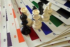 CLUB SPECIAL: Chess Set w/ Vinyl Board - Tournament Standard